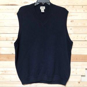 L.L. Bean Navy Blue Knit Vest Men's size XL